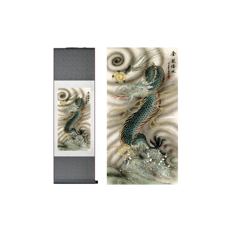 Siidimaal Sinine draakon (tellitav toode)