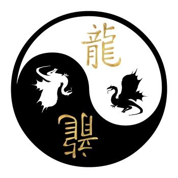yin-yang, draakon