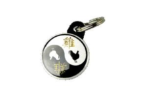 "Võtmehoidja ""Kukk"",  yin-yang"