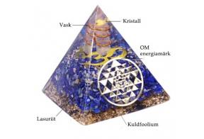 Maagiline abivahend ORGONIITENERGIAS PÜRAMIID(lasuriit)