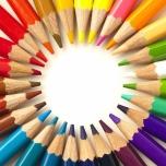 """Sisustusfoto """"Värvilised pliiatsid"""""""