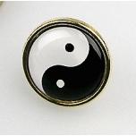 """Rinnamärk """"Yin-yang"""", 17mm"""