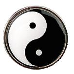 """Rinnamärk """"Yin-yang"""", 27mm, nõelaga"""
