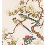 Linnupaar pojengides