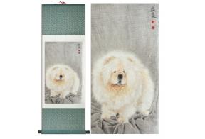 Siidimaal Valge koer (tellitav toode)